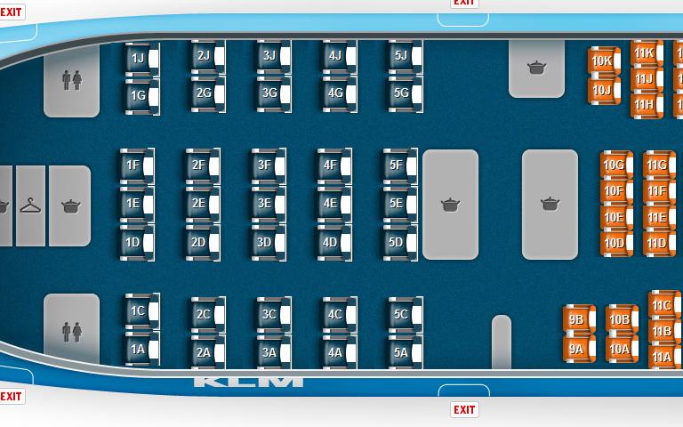 Tien Per Rij In De Klm 777 200 S Insideflyer Nl