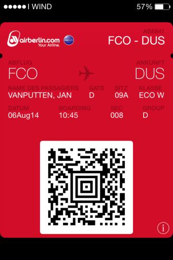 Ticket Passbook Air Berlin
