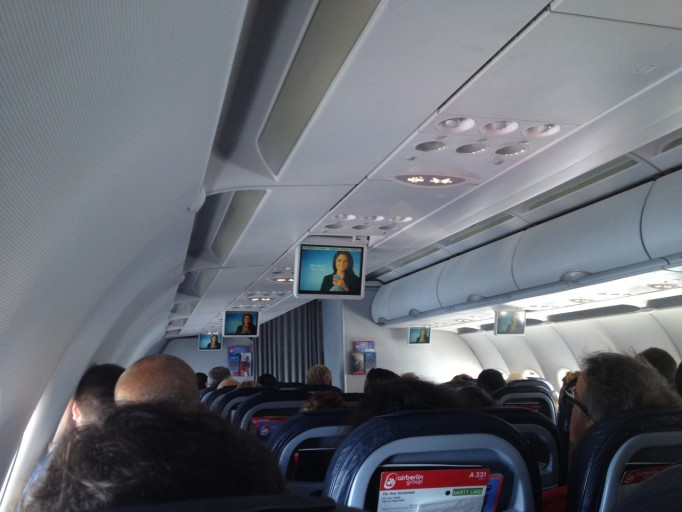 Flatscreens on board A321