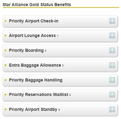 Star Alliance Gold Benefits