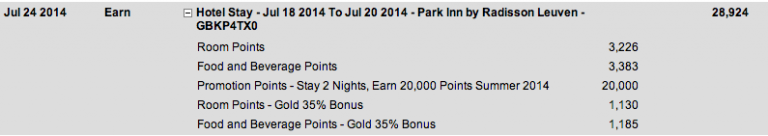 Club Carlson Gold Points voor 1 verblijf!