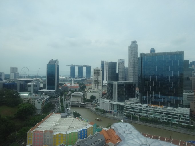 Hotel Novotel Singapore Clarke Quay uitzicht kamer
