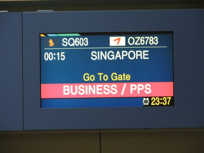 Boarding Singapore Airlines Seoul Incheon
