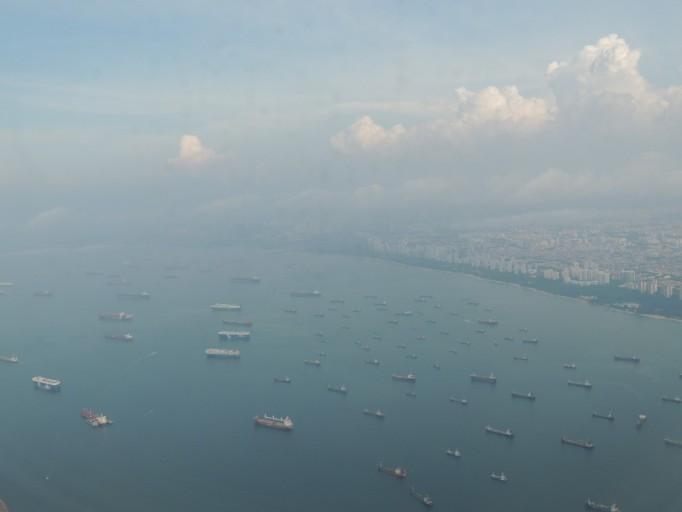 Opstijgen vanuit Singapore