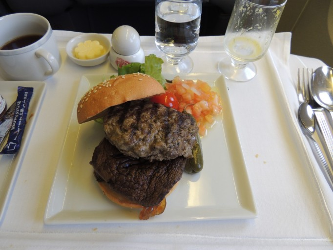 Singapore Airlines book the cook hamburger