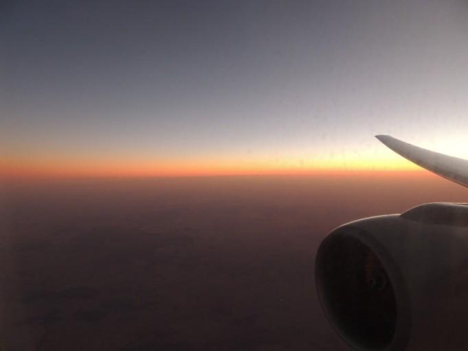Zonsondergang boven Australië