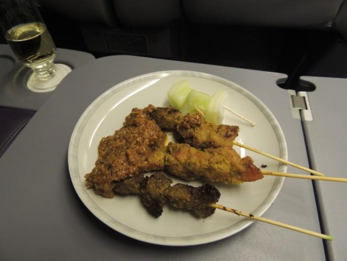 Singapore Airlines business class saté