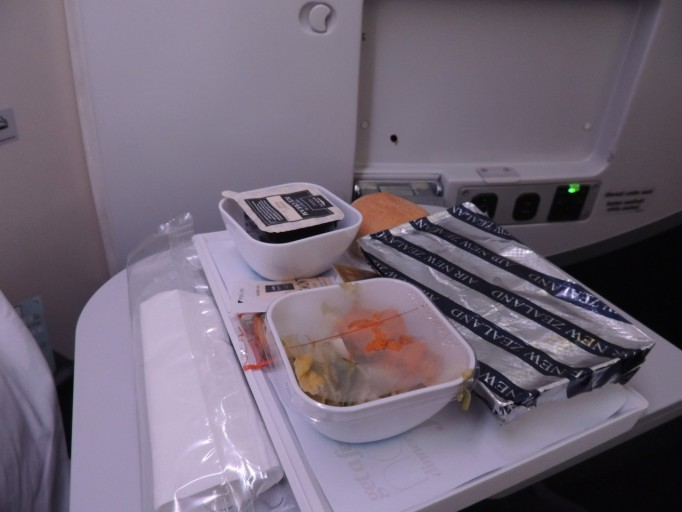 Air New Zealand economy eten