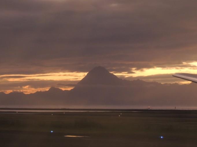Zonsondergang Tahiti Airport