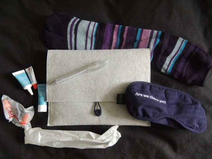Air New Zealand business class amenity kit