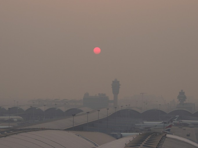 Hongkong Airport panoramadek