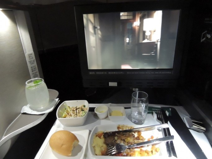 Cathay Pacific Business Class diner