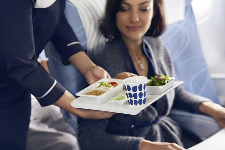 Finnair economy class maaltijd