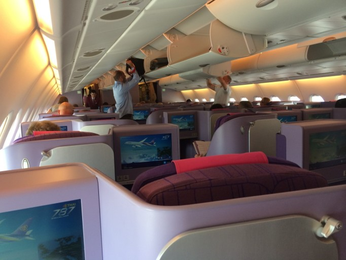 Thai Airways A380 business class cabine