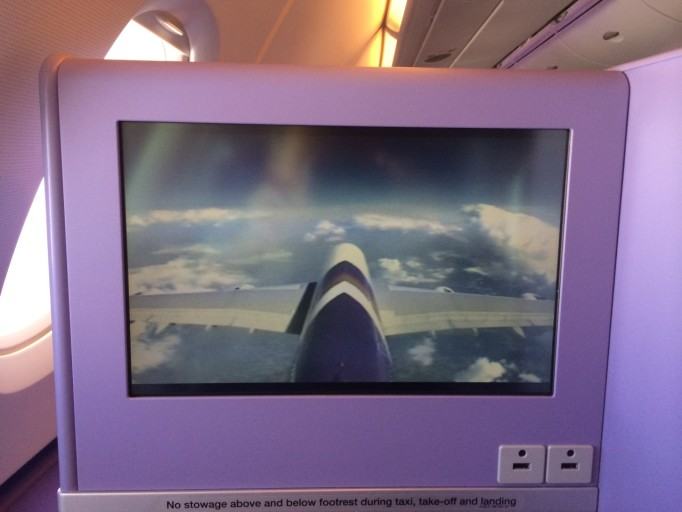 Camera-view vanaf de staart Thai Airways A380