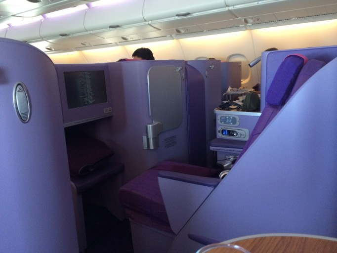 Thai Aiways A380 stoel