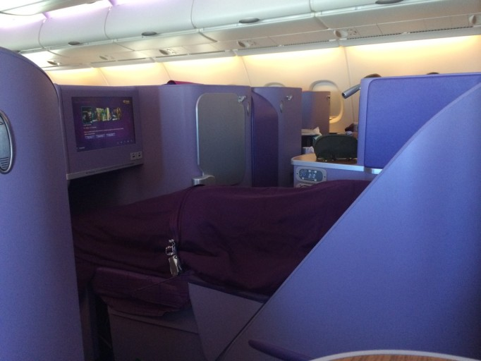 Slapen in Thai Airways A380