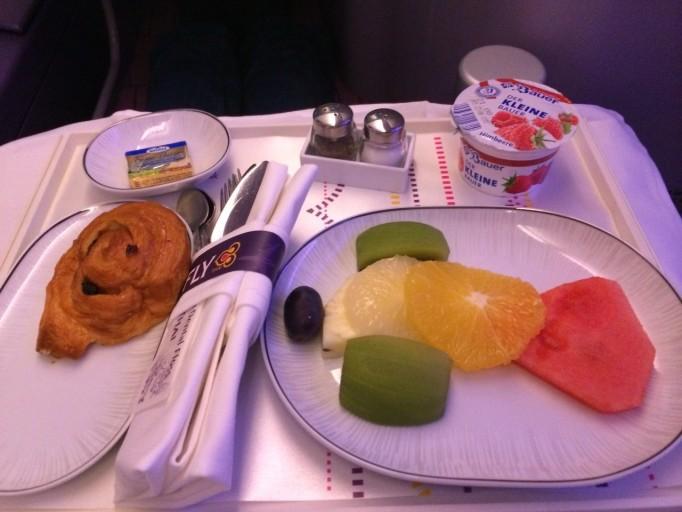 Thai Airways A380 ontbijt