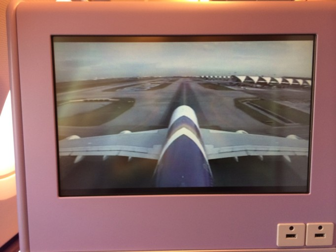 Thai Airways A380 camera view