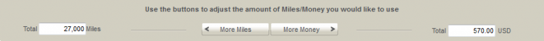 De optimale situatie met aankoop van $15 per 1000 miles