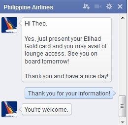 Philippine Airlines chat