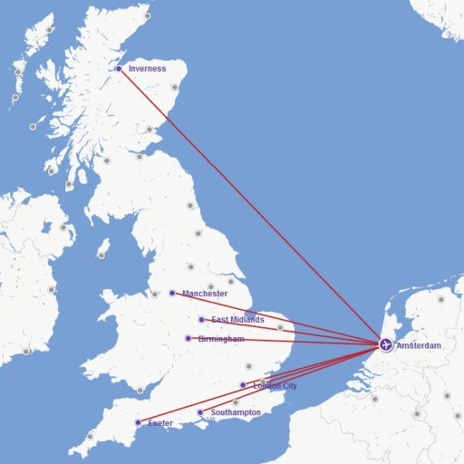 Route Map Flybe