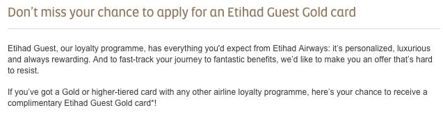 Etihad Status Match