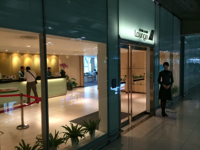 EVA Air lounge in Bangkok