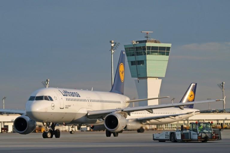 Airbus A320 van Lufthansa te Munchen