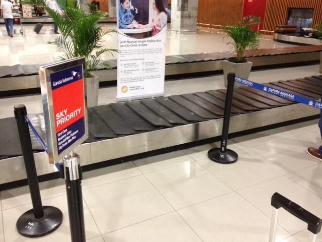 Speciale ruimte bij de baggage band