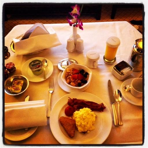 Geweldig roomservice ontbijt