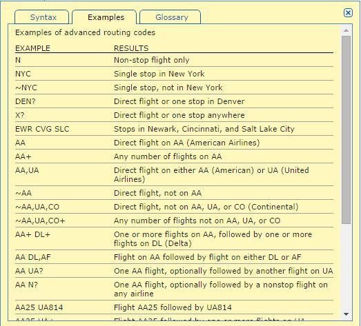 Voorbeelden commando's ITA