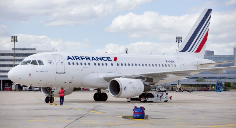 Airbus A318 van Air France op de luchthaven (Bron: Air France)