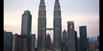 Vanuit mijn kamer een spectaculaire blik op de Petronas Towers
