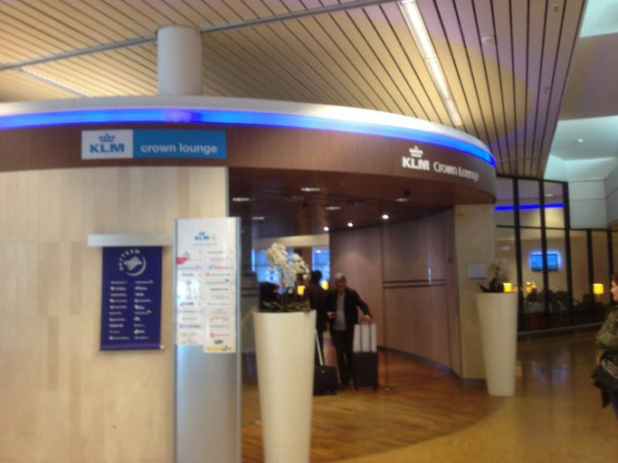 KLM Crown Lounge ingang