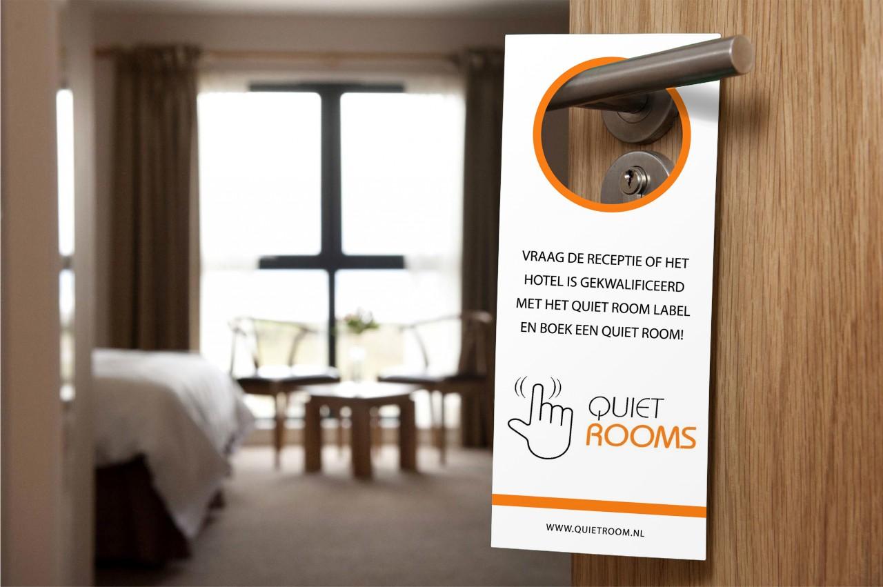 Quiet room label overnachten in stilte insideflyer nl for Room labels