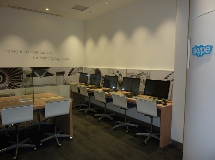 business center met skype cabines