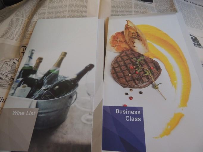 Asiana business class menu