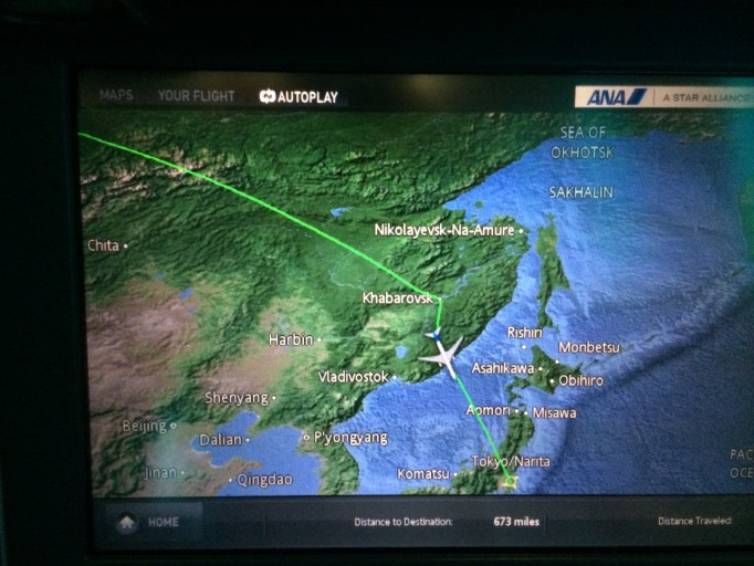 ANA route niet over Chinees grondgebied