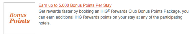Travel Hacking - IHG Breakfast Bonus