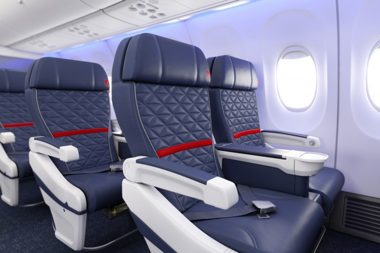First class in een 737