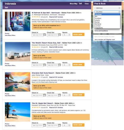 SPG Sale - Bali Hotels