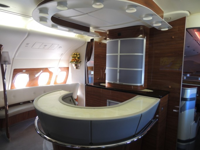 Emirates A380 business class bar