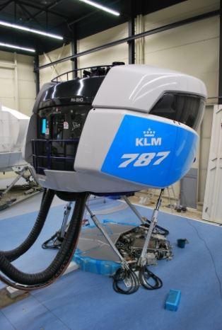 KLM 787 simulator