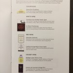 AA B77W Business Class menukaart