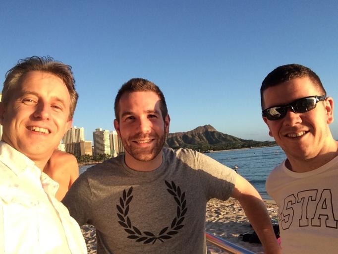 Eindelijk op Hawaii met twee Britse mede-Tier-Point-Runners!