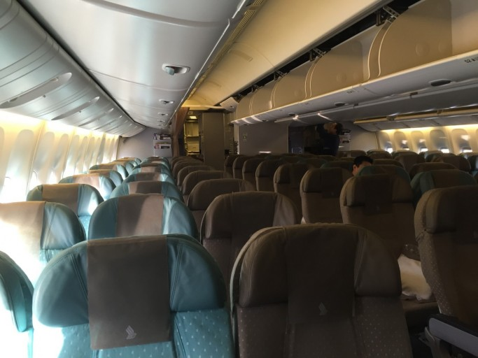 Singapore Airlines Economy Class cabine