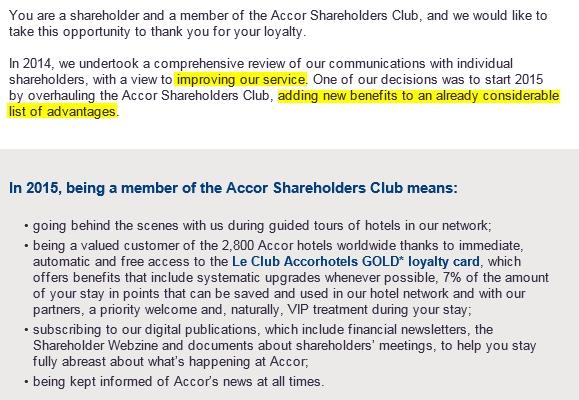 Uit de e-mail van Accor...