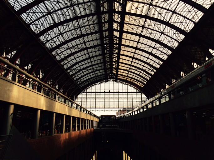 Antwerp Central Station is worth a visit for the architecture