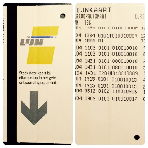 De Lijn card for bus and tram